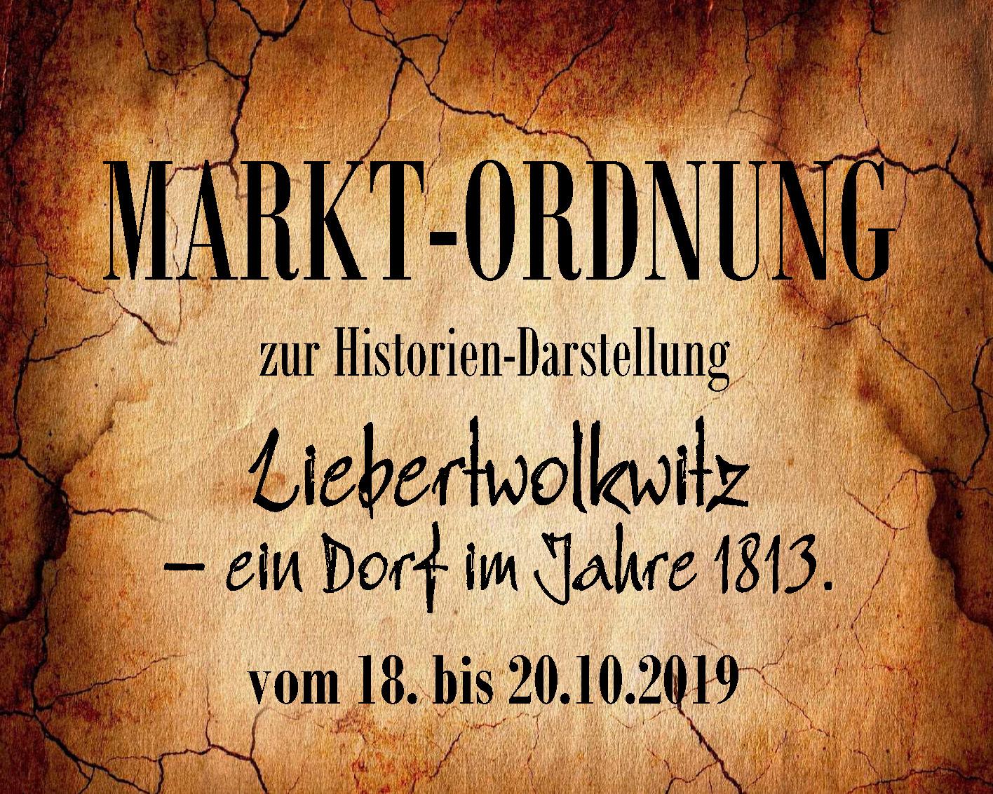 Wolkser Höfe 2019 - Marktordnung!