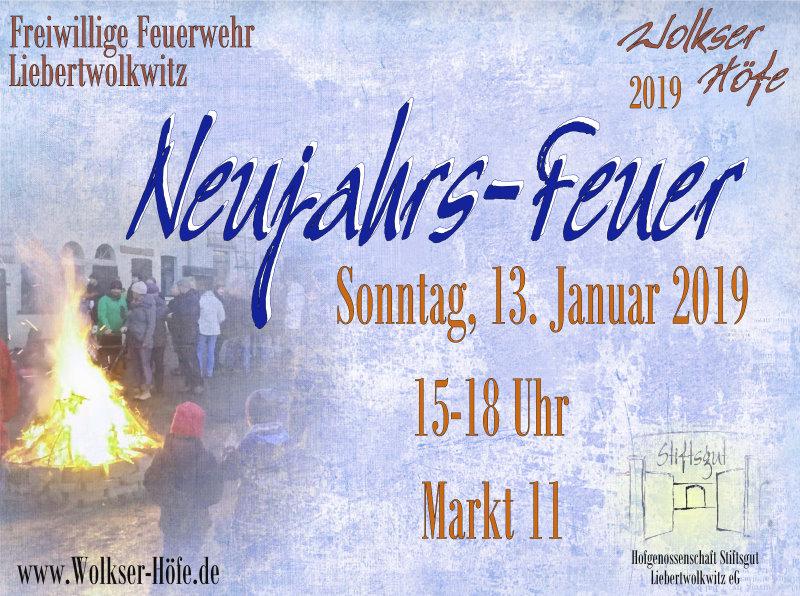 Wolkser Höfe 2019 - Neujahrs-Feuer 2019