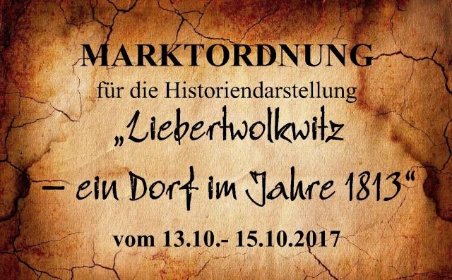 Die Marktordnung für Das Dorf 1813 - 2017